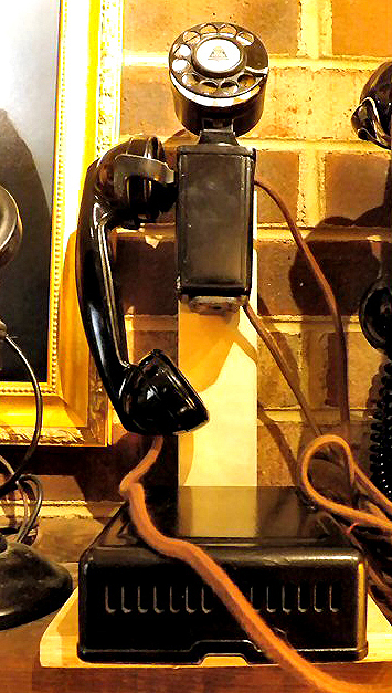 Antique and vintage telephones on