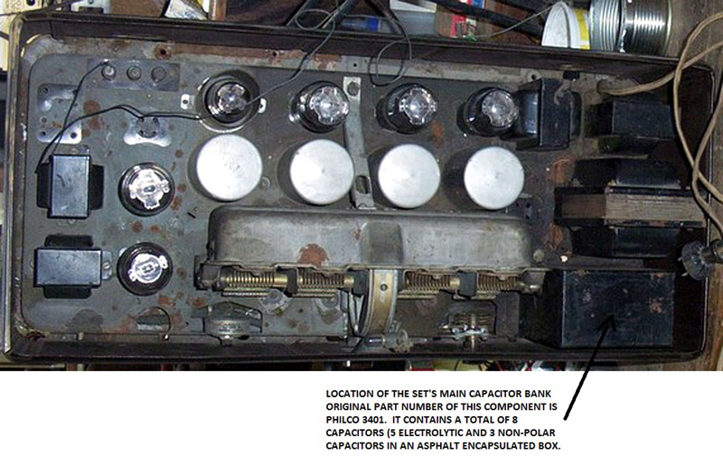 chassis_view recapping a philco model 87 radio Philco Model 60 at aneh.co