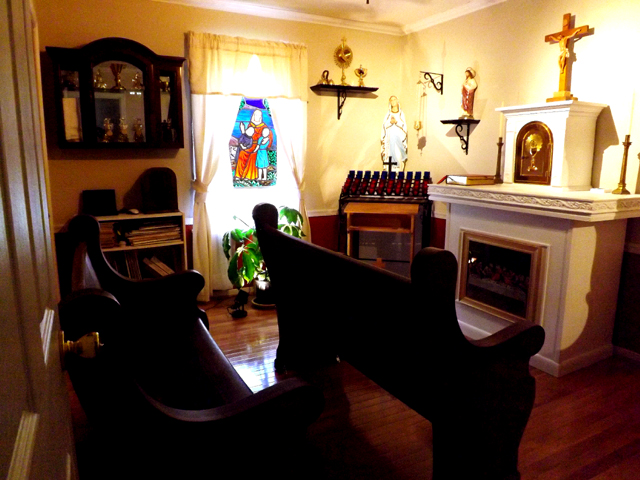 The Chapel Tabernacle built in the DeMajo Organ Works Shop. The bronze door  is an